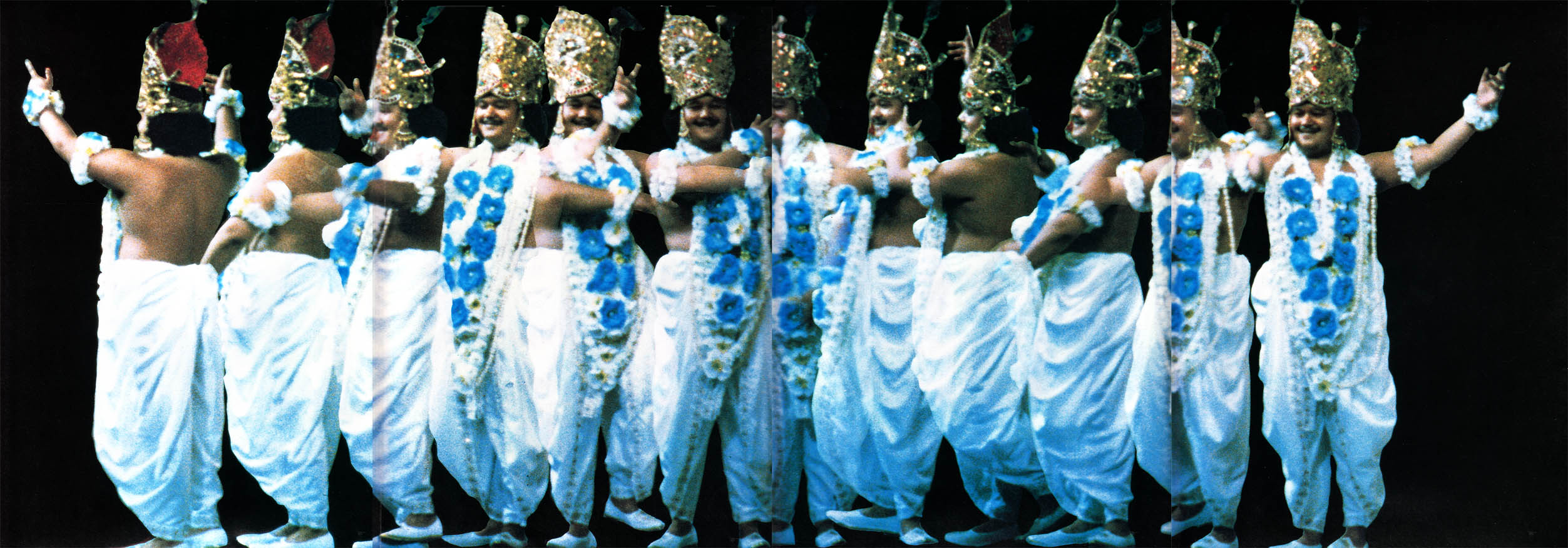 Prem Rawat (Maharaji) Dressed As Krishna Dancing On Stage Photo Montage