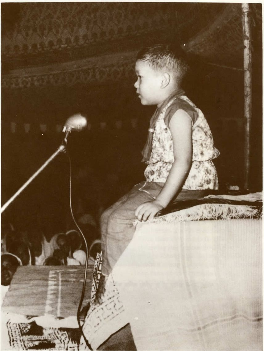 The young Satguru Maharaji (Prem Rawat)
