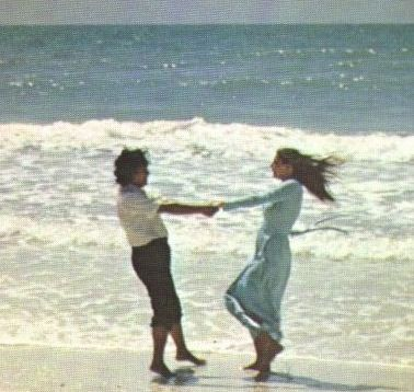 Prem Rawat (Maharaji) dances on the beach
